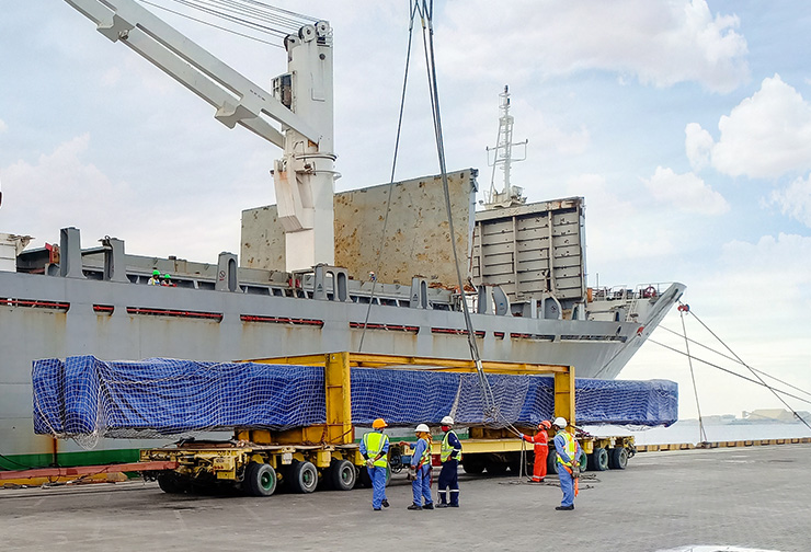 32 mtrs long pcs received at port