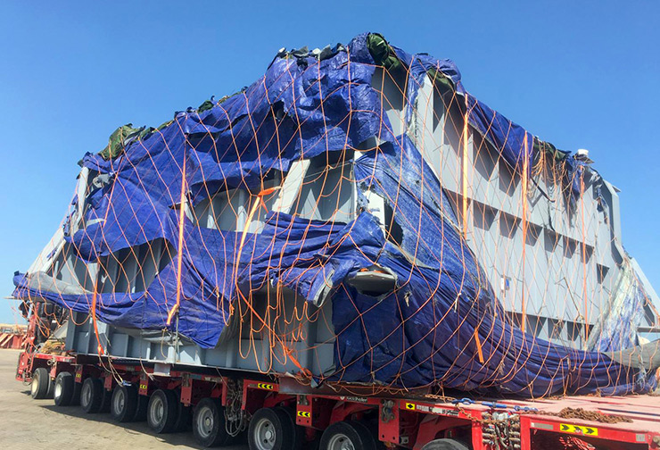 7.8 mtr wide pcs received from vessel